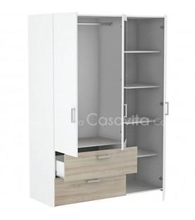 Armoire 3 portes 2 tiroirs...